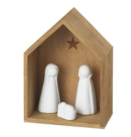 Räder kerstkribje Accacia hout
