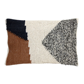 HKliving Cushion knotted Autumn   multicolour (40x60)