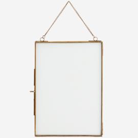 Madam Stoltz Hanging photo frame 21x29,5 cm Antique Brass