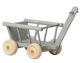 Maileg Wagon Micro Mint/Grey | Bolderkar mint/grijs