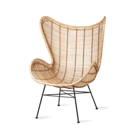 HKliving Rattan Egg chair naturel