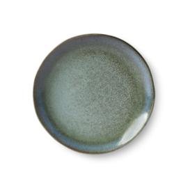HKliving ceramic 70's dessert plate Moss