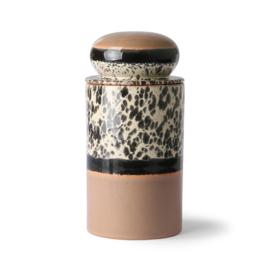 HKliving 70s Ceramics Storage jar; Tropical