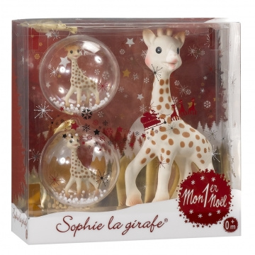 Kleine Giraf   Sophie de Giraf eerste Kerst Set