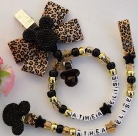 Set zwart   tijger