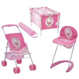 Hello kitty set 3 delig voor poppen