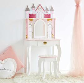 Kaptafelset hout wit kasteel