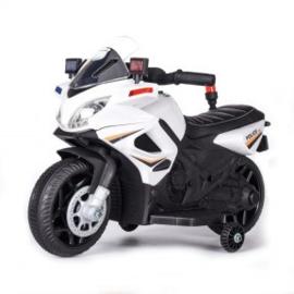 Motor 6v politie wit met verlichting muziek sirene en zwaailicht