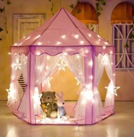 XL prinsessen tent 1.40x1.35 met led lichtjes