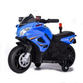 Motor 6v politie blauw met verlichting muziek sirene en zwaailicht