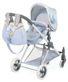 3 in 1 Spaanse poppenwagen 2019 ( wieg, wandelwagen) Lichtblauw
