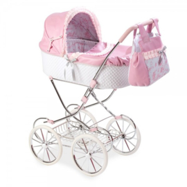 Spaanse luxe poppenwagen roze XL (4-9 jaar )