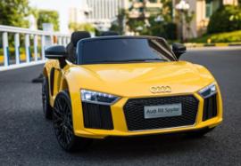 Audi geel 12v met afstandsbediening