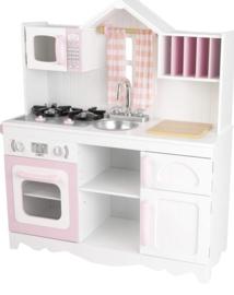 Houten speelgoed keuken incl accessoires roze