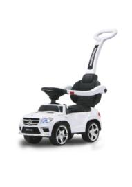 Loopauto Mercedes met duwstang verlichting en geluiden