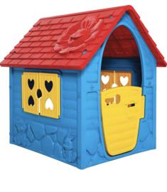Rood blauw speelhuis  106cm