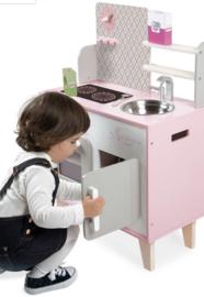 Houten speelgoed keuken roze macaron incl accessoires
