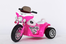 Politiemotor roze