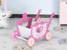 Houten speelgoed kar prinsessen