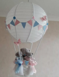 Exclusieve Ballonnen lamp me to you roze/ blauw