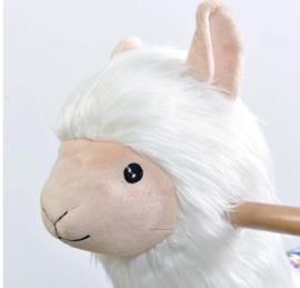 hobbel alpaca wit