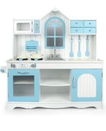 Houten speelgoed keuken incl accessoires blauw