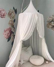 Prinsessen hemel/ tent... creme met kant romantiek