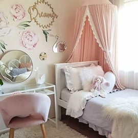 Prinsessen hemel/ tent... roze met kant romantiek