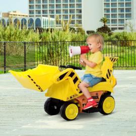 6v bulldozer zandwagen geel