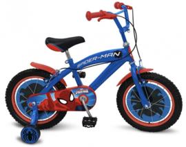 """Spiderman fiets 16"""" met zijwieltjes en handrem"""