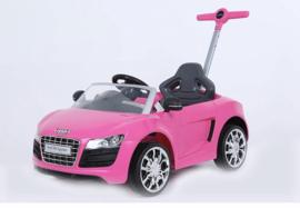 Audi met duwstang roze