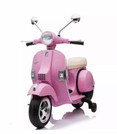 Vespa roze  6v met usb en verlichting