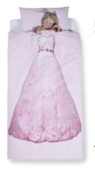 Prinses roze dekbed overtrek 140 x 200