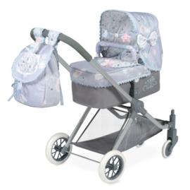 3 in 1 Spaanse poppenwagen ( wieg, wandelwagen) Lichtblauw