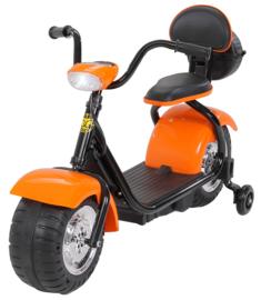 Harley Bike 6v met verlichting muziek oranje