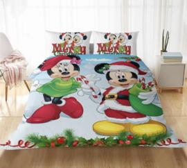 Disney kerst dekbed overtrek 200x 200  dubbelzijdig Mickey Minnie