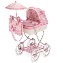 Spaanse xxl  90 cm poppenwagen roze 2018-2019