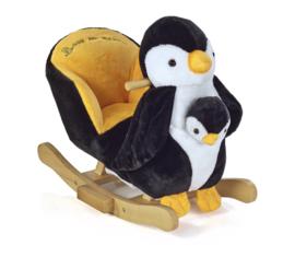 Hobbel pinguïn met muziek en handpop