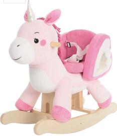 Luxe unicorn eenhoorn hobbelpaard met gordel