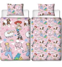 Toy story roze dekbed overtrek 140 x 200  dubbelzijdig