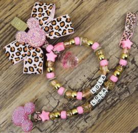 Set pink tijger