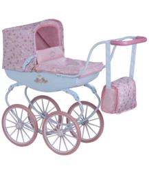 poppenwagen roze lichtblauw  2019 -20 incl tas