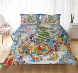 Disney kerst dekbed overtrek 140 x 200 1p  dubbelzijdig