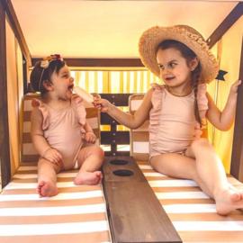 Hardhouten duo ligstoel incl kussens