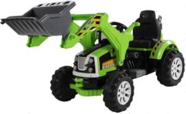 12v traktor met werkende schep groen
