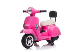 Mini Vespa Roze 6v met usb en verlichting