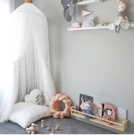 Prins/ prinsessen hemel/ tent... wit incl led verlichting