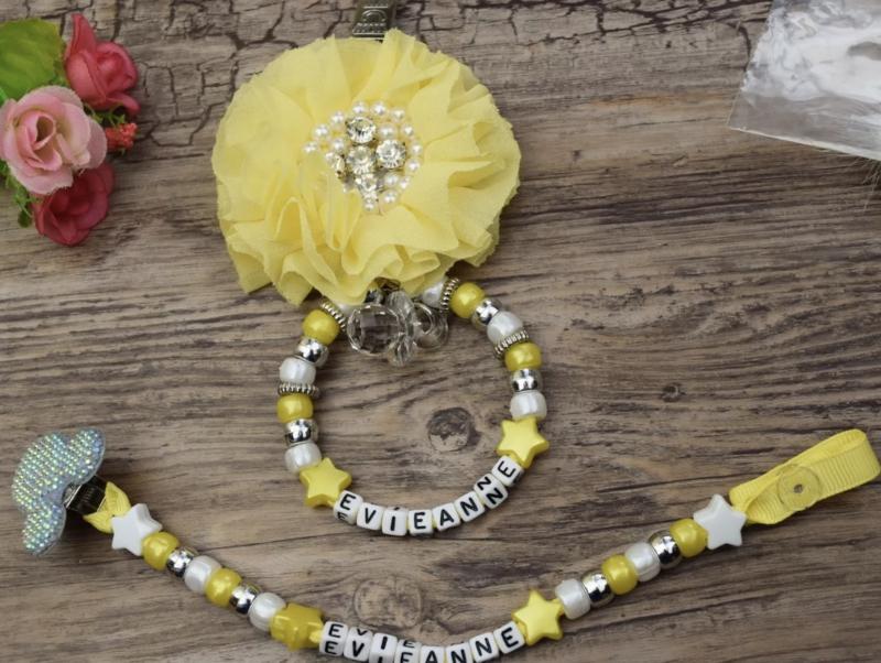 Set geel flower