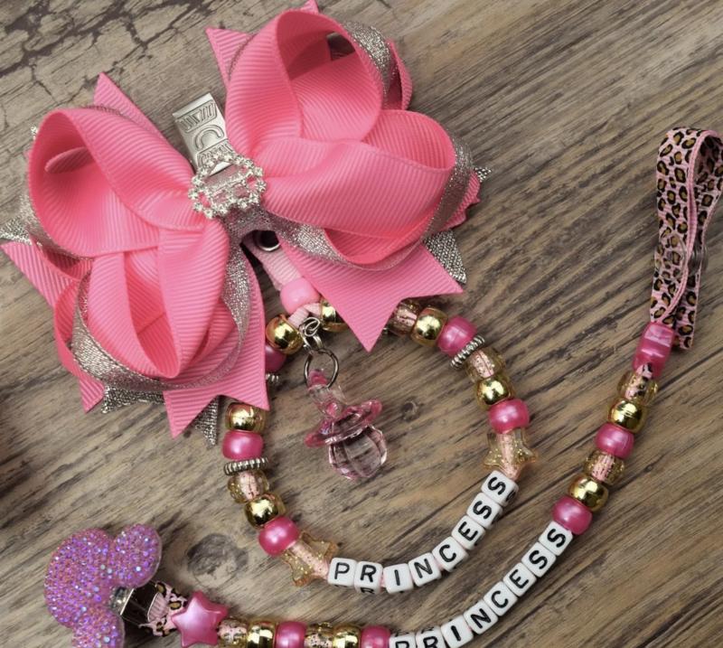 Set pink bow