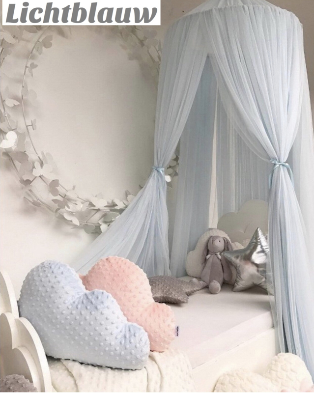 Prins/ prinsessen hemel/ tent... blauw incl led verlichting